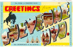 Greetings From Cheyenne Wyoming Big Letter Postcard p27071