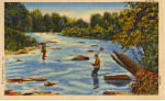 Click here to enlarge image and see more about item p27080: Stream Fishing
