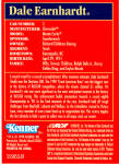 Click to view larger image of Dale Earnhardt Kenner Card,1998 p27136 (Image2)