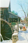 Click here to enlarge image and see more about item p27231: Oliver Wight Grist Mill in Winter Old Sturbridge MA p27231