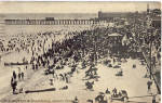 Click here to enlarge image and see more about item p27273: Bathing Scene and Boardwalk Asbury Park NJ p27273