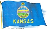 Kansas State Flag Postcard p2727