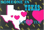 Someone in TX Loves You Postcard