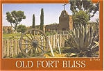 Old Fort Bliss El Paso TX Postcard