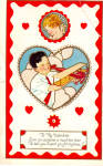 Click here to enlarge image and see more about item p27634: To My Valentine Even an Airplane Postcard p27634