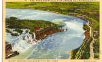 Aerial View of Niagara Falls Postcard p27657
