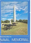 Click here to enlarge image and see more about item p2765: Naval Memorial Vicksburg MS Postcard p2765