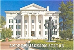Click here to enlarge image and see more about item p2773: Andrew Jackson Statue Jackson MS Postcard p2773