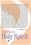 Click here to enlarge image and see more about item p2792: Gifts From the Holy Spirit  Postcard