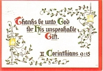 Click here to enlarge image and see more about item p2793: Christian Christmas Postcard p2793