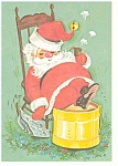 Click here to enlarge image and see more about item p2795: Sleeping Santa Postcard