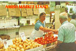 Amish Farmers Market Postcard p27998
