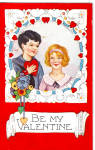 Click here to enlarge image and see more about item p28067: Be My Valentine Postcard p28067