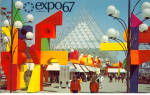 Click here to enlarge image and see more about item p28082: La Ronde Amusement Area Expo 67 Postcard p28082