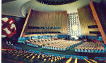 Click here to enlarge image and see more about item p28209: General Assembly Hall United Nations New York City NY p28209