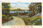 Click here to enlarge image and see more about item p28329: Road River Scene West Memphis Arkansas p28329