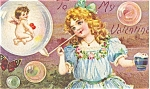 Click here to enlarge image and see more about item p2832: Valentines Day Postcard p2832