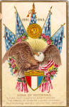 Click here to enlarge image and see more about item p28360: Sons of Veterans, Decoration Day Postcard 1918