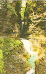 Click here to enlarge image and see more about item p28384: Minnehahha Falls Cavern Cascade Falls in Background p28384