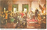Click here to enlarge image and see more about item p2839: Signing of the Declaration Independen Pcard p2839