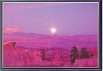 Click here to enlarge image and see more about item p2840: Moon Rise at Bryce Canyon UT Postcard
