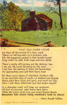 Words to That Old Cabin Home Postcard p28423