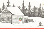 Click here to enlarge image and see more about item p2842: Lobster Traps in the Snow Postcard