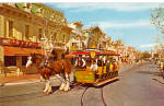 Click here to enlarge image and see more about item p28432: Horse Drawn Street Car  Disneyland  p28432