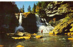 Blackwater Falls Davis West Virginia Postcard p28501