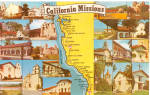 Click here to enlarge image and see more about item p28536: El Camino Real, a map of California Missions