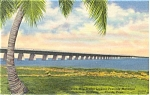 Seven Mile Bridge Florida Keys Postcard p2858