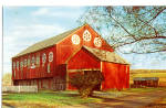 Amish Barn with Hex Signs Postcard p28661