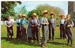 Amish Boys and Girls at School  During Recess p28692