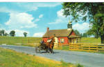 Amish Little Red Schoolhouse Postcard p28700