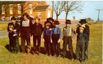 Amish Children Postcard p28701