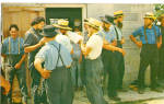 Amish Men Take Time Out From Barn Raising p28704