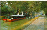Click here to enlarge image and see more about item p28764: Barge Ride on the Delaware Canal Postcard p28764