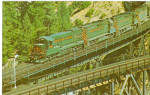 Western Pacific Diesel Locomotives on Keddie Wye Bridge CA p28767