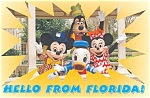 Mickey Minnie and  Donald Postcard p2876 Lot of 2