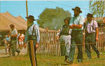 Amish People at Country Fair Postcard p28807