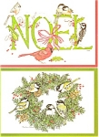Christmas Postcard with Birds Lot