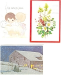 Click here to enlarge image and see more about item p2912: Christmas Postcards Lot of 10 p2912