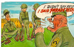 Comical US Army Postcard