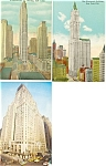 New York City  Buildings  Postcard Lot 3
