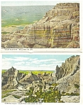 Click here to enlarge image and see more about item p2945: Bad Lands South Dakota  Postcards Lot 4 p2945