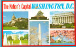 Six View Postcard of Nations Capital
