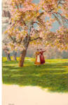 Click here to enlarge image and see more about item p29640: Cherry Tree in Blossom Postcard p29640