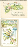 Click here to enlarge image and see more about item p2964: Vintage Birthday Postcard Lot of 2