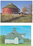 Click here to enlarge image and see more about item p2984: Round Barns Postcards p2984  Lot of 2