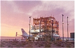 Click here to enlarge image and see more about item p2989: NASA Shuttle Enterprise on 747 Postcard p2989